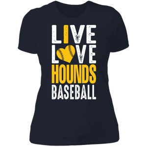 I Love the Hounds Ladies' Boyfriend T-Shirt