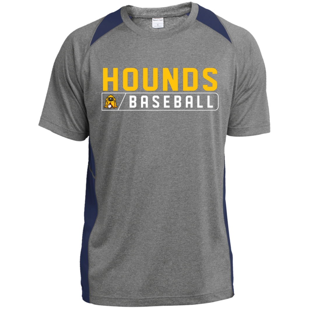 Hounds Bar Logo Men's Heather Colorblock Poly T-Shirt
