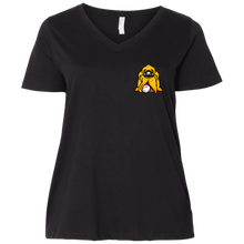Load image into Gallery viewer, Barnwood HoundLadies' Curvy V-Neck T-Shirt