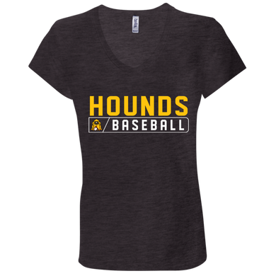 Hounds Bar Logo Ladies' Jersey V-Neck T-Shirt