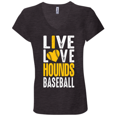 I love the Hounds Ladies' Jersey V-Neck T-Shirt
