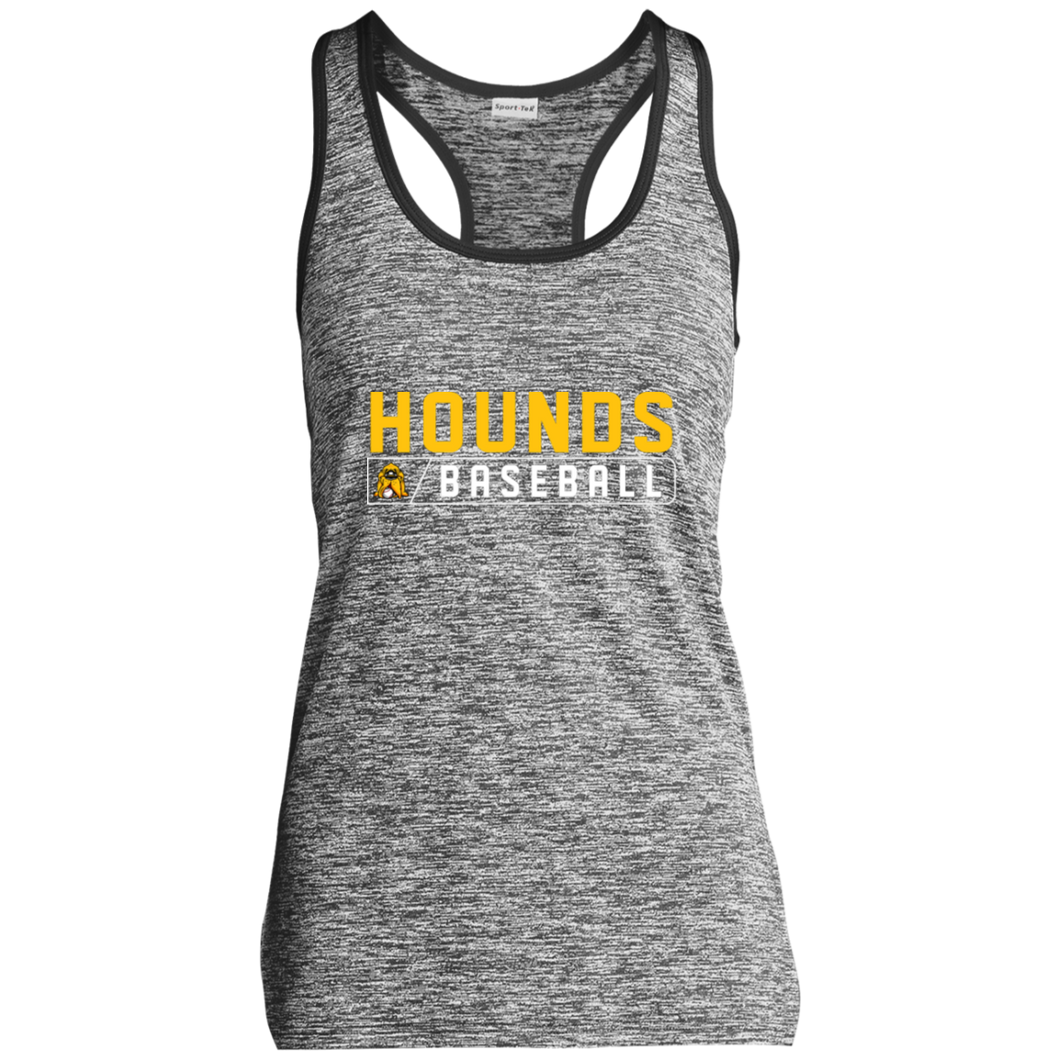 Hounds Bar Logo Ladies' Moisture Wicking Electric Heather Racerback Tank