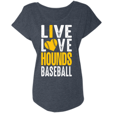 Load image into Gallery viewer, I Love the Hounds Ladies' Triblend Dolman Sleeve