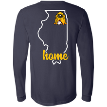 Load image into Gallery viewer, Hounds Baseball Illinois Home LS Tee