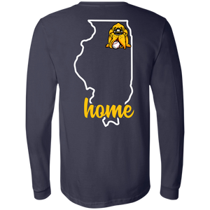 Hounds Baseball Illinois Home LS Tee