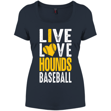 I love the Hounds  Women's Perfect Scoop Neck Tee