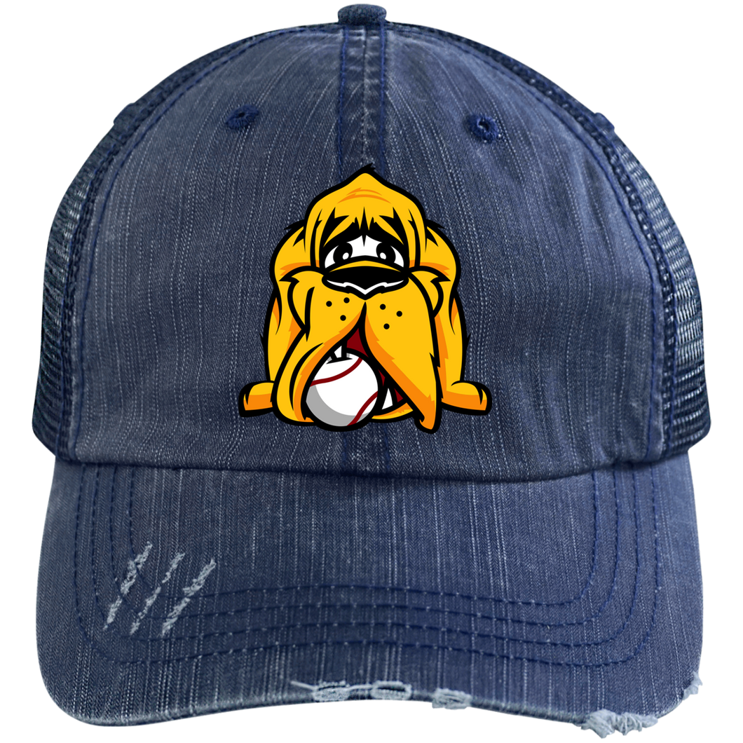 Hound Head Logo Embroidered Trucker Cap