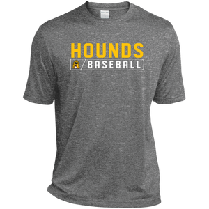 Hounds Bar Logo Men's Tall Heather Dri-Fit Moisture-Wicking T-Shirt