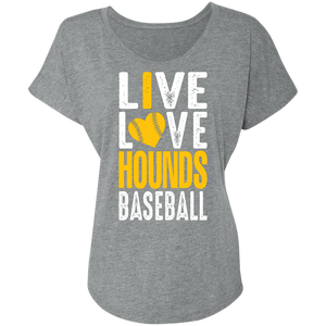I Love the Hounds Ladies' Triblend Dolman Sleeve