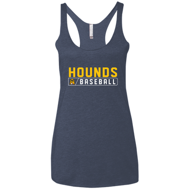 Hounds Bar Logo Ladies' Triblend Racerback Tank