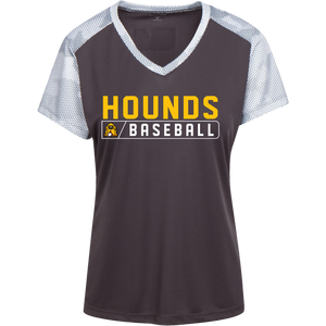Hounds Bar Logo Ladies' CamoHex Colorblock T-Shirt