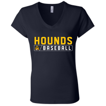 Load image into Gallery viewer, Hounds Bar Logo Ladies' Jersey V-Neck T-Shirt