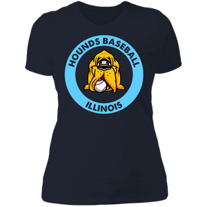Hounds Baseball Illinois Ladies' Boyfriend T-Shirt