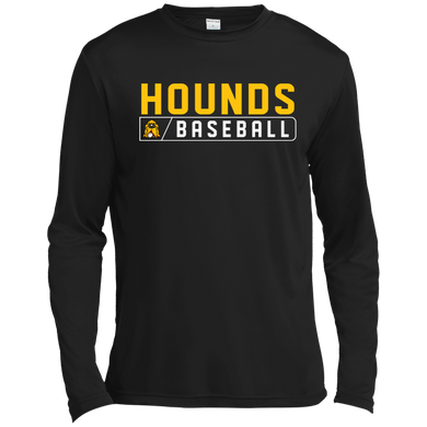 Hounds Bar Logo Tall LS Moisture Absorbing T-Shirt