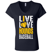 Load image into Gallery viewer, I love the Hounds Ladies' Jersey V-Neck T-Shirt