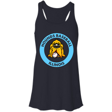 Load image into Gallery viewer, Hounds Baseball Illinois Flowy Racerback Tank