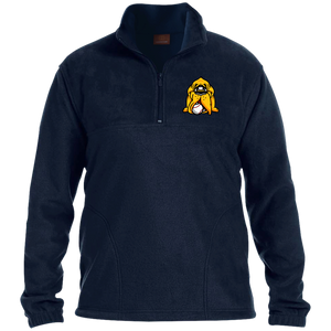 Hound Head Embroidered 1/4 Zip Fleece Pullover