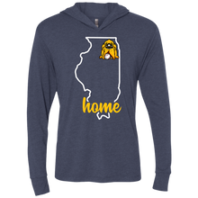 Load image into Gallery viewer, Illinois Home Triblend LS Hooded T-Shirt