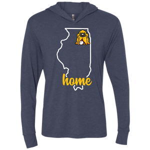 Illinois Home Triblend LS Hooded T-Shirt