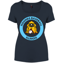Load image into Gallery viewer, Hounds Baseball Illinois Women's Perfect Scoop Neck Tee
