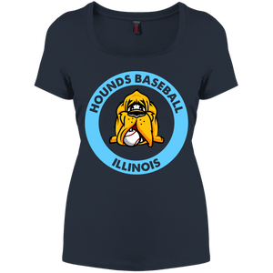 Hounds Baseball Illinois Women's Perfect Scoop Neck Tee