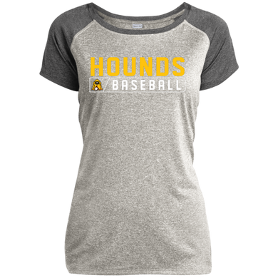 Hound Bar Logo Ladies Heather on Heather Performance T-Shirt