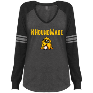 Houndmade Ladies' Game LS V-Neck T-Shirt