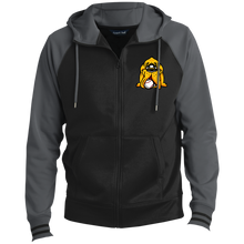 Load image into Gallery viewer, Hound Head Embroirdered Men's Sport-Wick® Full-Zip Hooded Jacket