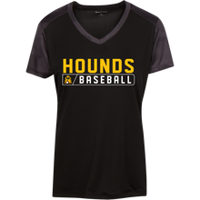 Load image into Gallery viewer, Hounds Bar Logo Ladies' CamoHex Colorblock T-Shirt