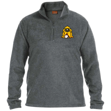 Load image into Gallery viewer, Hound Head Embroidered 1/4 Zip Fleece Pullover