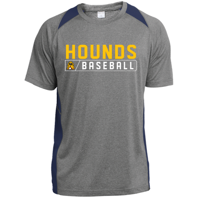 Hounds Bar Logo Youth Colorblock Performance T-Shirt