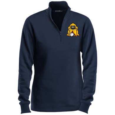 Hound Head Logo Ladies' 1/4 Zip Sweatshirt