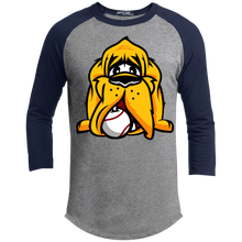 Load image into Gallery viewer, Hound Head Logo 3/4 Raglan Tee