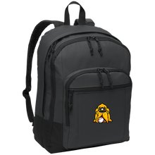 Load image into Gallery viewer, Navy Hound Head Basic Backpack