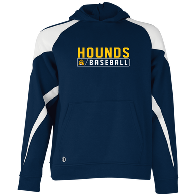 Hounds Bar Logo Perf Youth Colorblock Hoodie