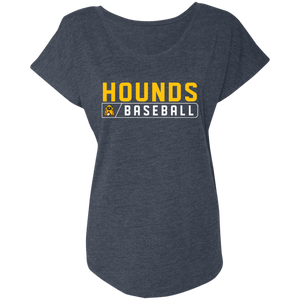 Hounds Bar Logo Ladies' Triblend Dolman Sleeve