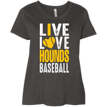 Load image into Gallery viewer, I Love the Hounds Ladies' Curvy T-Shirt