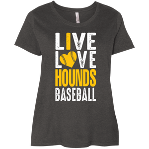 I Love the Hounds Ladies' Curvy T-Shirt