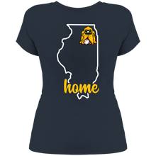 Load image into Gallery viewer, Hounds Baseball Illinois Home Women's Perfect Scoop Neck Tee