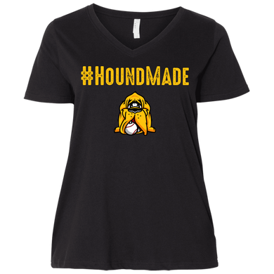 Houndmade Ladies' Curvy V-Neck T-Shirt