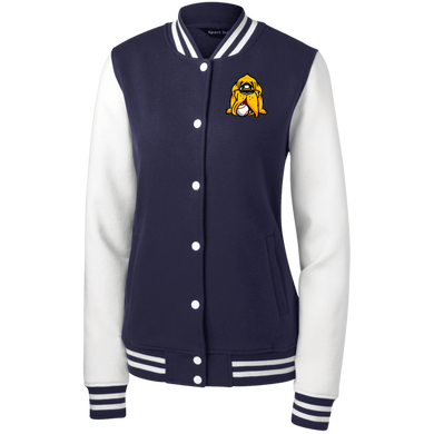 Hound Head Women's Fleece Letterman Jacket
