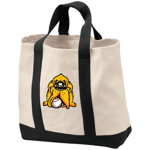 Hound Head Embroidered Shopping Tote