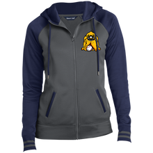 Load image into Gallery viewer, Hound Head EmbroirderedLadies' Sport-Wick® Full-Zip Hooded Jacket