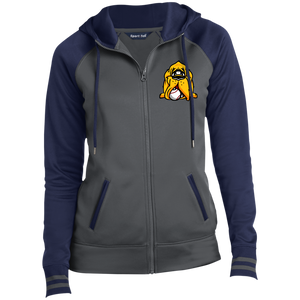 Hound Head EmbroirderedLadies' Sport-Wick® Full-Zip Hooded Jacket