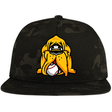 Load image into Gallery viewer, Hound Head  Flat Bill High-Profile Snapback Hat