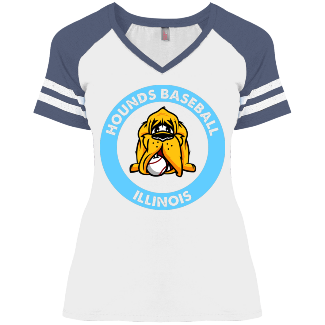 Hounds Baseball Illinois Ladies' Game V-Neck T-Shirt