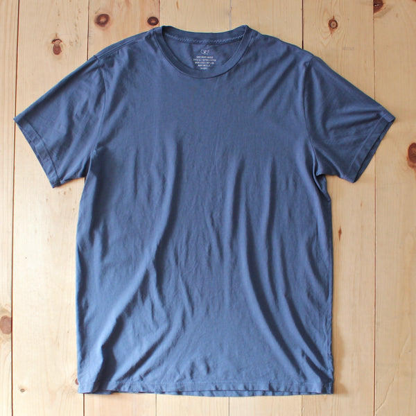 Save Khaki United SS Supima Crew Tee in Blue