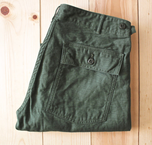 OrSlow Slim Fit Fatigue Pant in Green