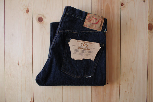 OrSlow 105 Standard Fit Jean in One Wash
