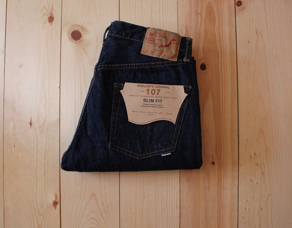 OrSlow 107 Ivy Fit Slim Jean in One Wash